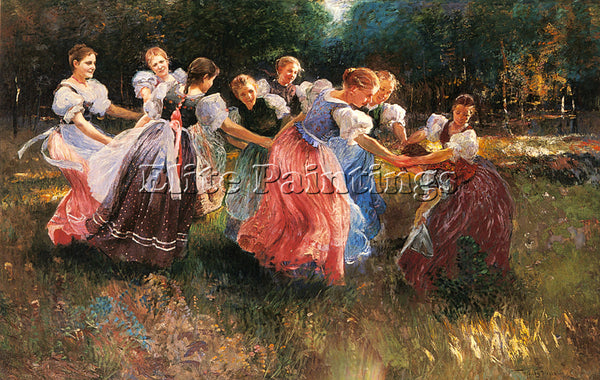 HUNGARIAN UJVARY IGNAC THE RITE OF SPRING ARTIST PAINTING REPRODUCTION HANDMADE