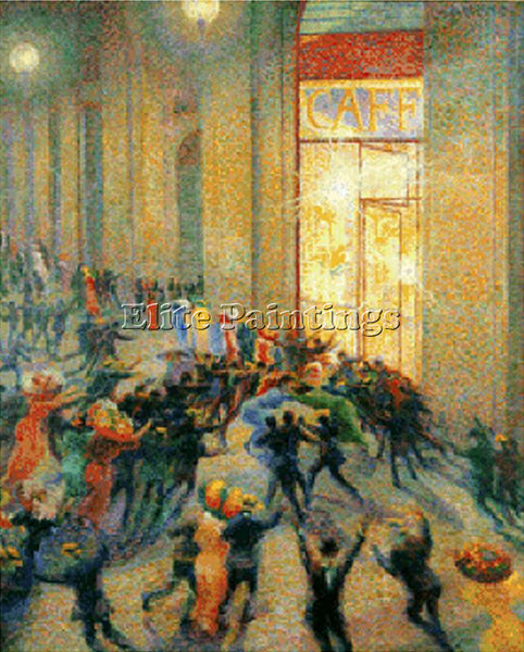 UMBERTO BOCCIONI BOCCI14 ARTIST PAINTING REPRODUCTION HANDMADE CANVAS REPRO WALL