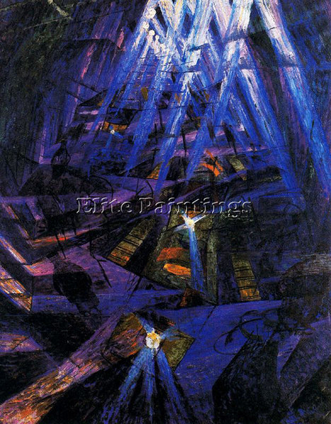 UMBERTO BOCCIONI BOCCI16 ARTIST PAINTING REPRODUCTION HANDMADE CANVAS REPRO WALL