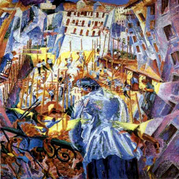 UMBERTO BOCCIONI BOCCI17 ARTIST PAINTING REPRODUCTION HANDMADE CANVAS REPRO WALL