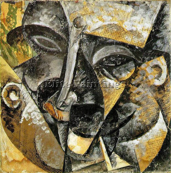 UMBERTO BOCCIONI BOCCI19 ARTIST PAINTING REPRODUCTION HANDMADE CANVAS REPRO WALL