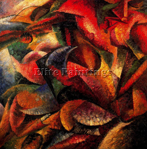 UMBERTO BOCCIONI BOCCI21 ARTIST PAINTING REPRODUCTION HANDMADE CANVAS REPRO WALL