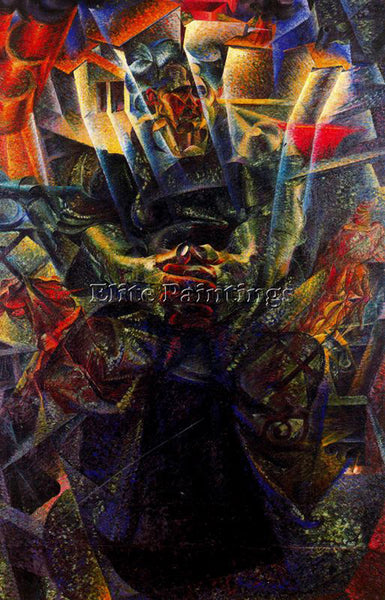 UMBERTO BOCCIONI BOCCI24 ARTIST PAINTING REPRODUCTION HANDMADE CANVAS REPRO WALL