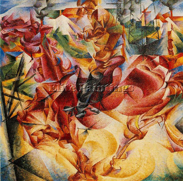 UMBERTO BOCCIONI BOCCI27 ARTIST PAINTING REPRODUCTION HANDMADE CANVAS REPRO WALL
