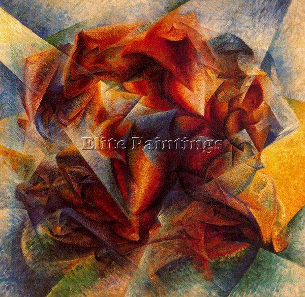 UMBERTO BOCCIONI BOCCI28 ARTIST PAINTING REPRODUCTION HANDMADE CANVAS REPRO WALL