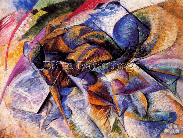 UMBERTO BOCCIONI BOCCI35 ARTIST PAINTING REPRODUCTION HANDMADE CANVAS REPRO WALL