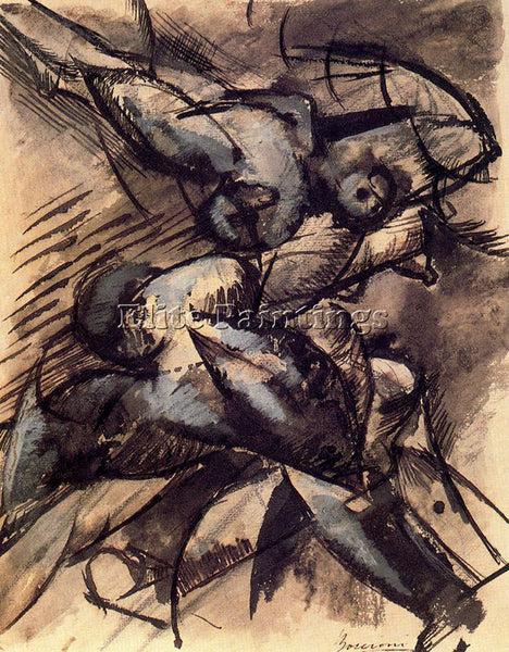 UMBERTO BOCCIONI BOCCI38 ARTIST PAINTING REPRODUCTION HANDMADE CANVAS REPRO WALL