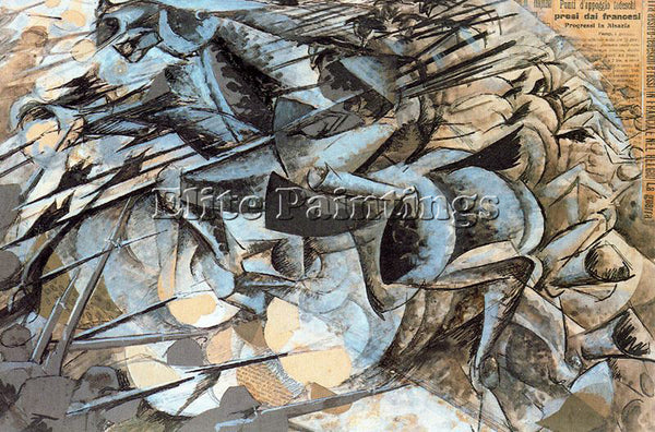 UMBERTO BOCCIONI BOCCI39 ARTIST PAINTING REPRODUCTION HANDMADE CANVAS REPRO WALL