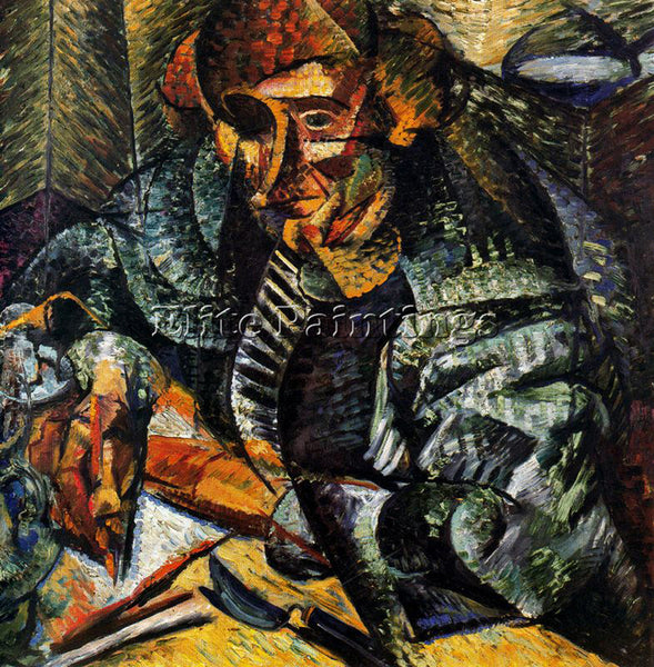 UMBERTO BOCCIONI BOCCI40 ARTIST PAINTING REPRODUCTION HANDMADE CANVAS REPRO WALL