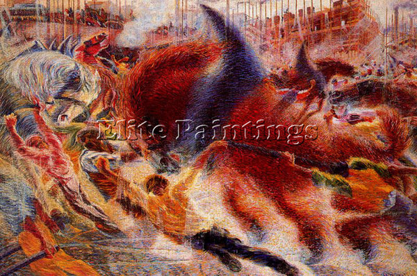 UMBERTO BOCCIONI BOCCI43 ARTIST PAINTING REPRODUCTION HANDMADE CANVAS REPRO WALL