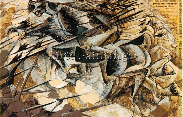 UMBERTO BOCCIONI BOCCI44 ARTIST PAINTING REPRODUCTION HANDMADE CANVAS REPRO WALL