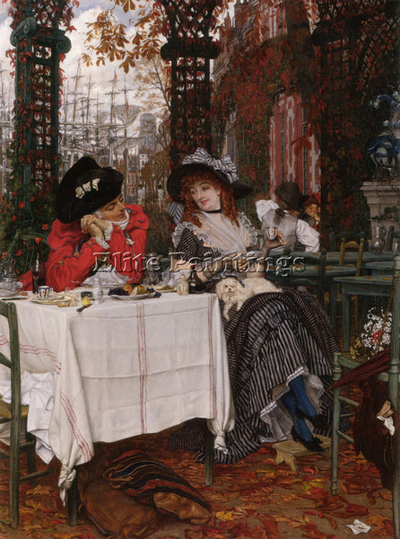 JAMES JACQUES-JOSEPH TISSOT UN DEJEUNER ARTIST PAINTING REPRODUCTION HANDMADE