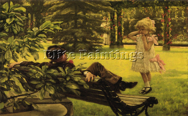 JAMES JACQUES-JOSEPH TISSOT UNCLE FRED ARTIST PAINTING REPRODUCTION HANDMADE OIL