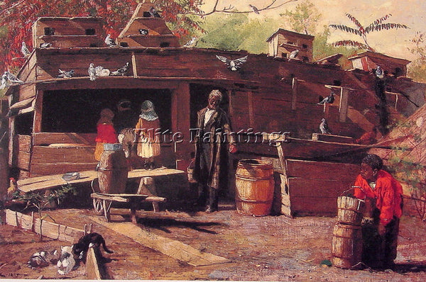 WINSLOW HOMER UNCLE NED AT HOME ARTIST PAINTING REPRODUCTION HANDMADE OIL CANVAS