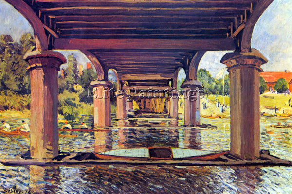 ALFRED SISLEY UNDER THE BRIDGE AT HAMPTON COURT ARTIST PAINTING REPRODUCTION OIL