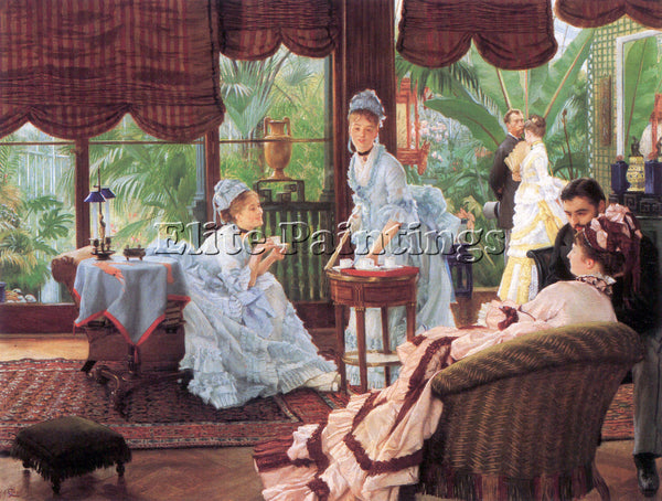 TISSOT UNRIVALED ARTIST PAINTING REPRODUCTION HANDMADE OIL CANVAS REPRO WALL ART
