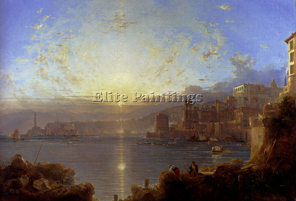 FRANZ RICHARD UNTERBERGER GENOA ARTIST PAINTING REPRODUCTION HANDMADE OIL CANVAS