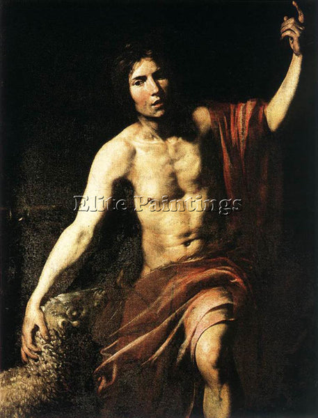 VALENTIN DE BOULOGNE ST JOHN THE BAPTIST ARTIST PAINTING REPRODUCTION HANDMADE