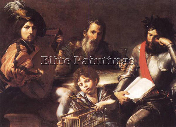 VALENTIN DE BOULOGNE THE FOUR AGES OF MAN ARTIST PAINTING REPRODUCTION HANDMADE