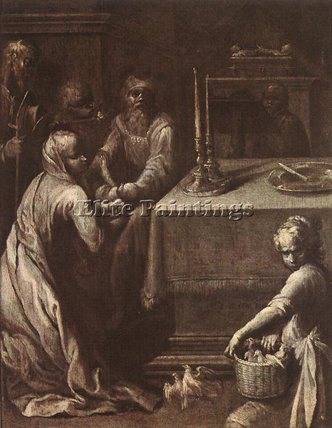 ITALIAN VARIN QUENTIN PRESENTATION OF CHRIST IN THE TEMPLE ARTIST PAINTING REPRO