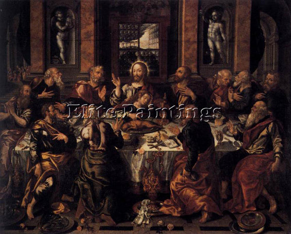 SPANISH VAZQUEZ ALONSO LAST SUPPER ARTIST PAINTING REPRODUCTION HANDMADE OIL ART