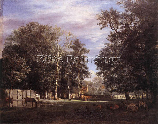 VELDE ADRIAEN VAN DE DE THE FARM ARTIST PAINTING REPRODUCTION HANDMADE OIL REPRO