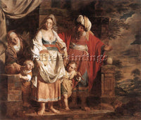 BELGIAN VERHAGHEN PIETER JOZEF HAGAR AND ISHMAEL BANISHED BY ABRAHAM OIL CANVAS