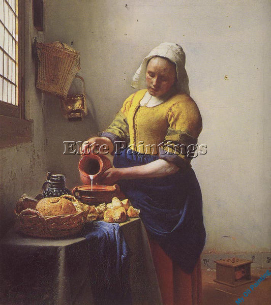 VERMEER VERM9 ARTIST PAINTING REPRODUCTION HANDMADE OIL CANVAS REPRO WALL  DECO