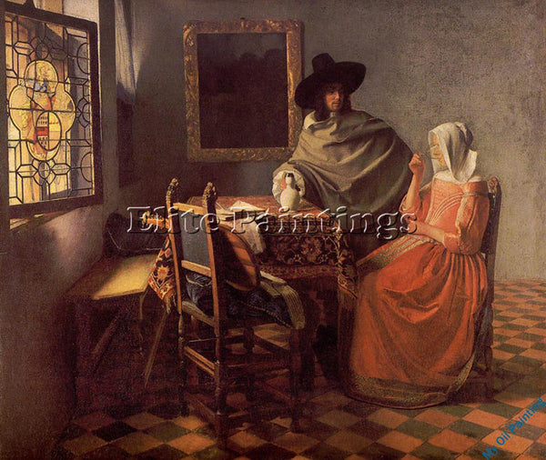 VERMEER VERM10 ARTIST PAINTING REPRODUCTION HANDMADE OIL CANVAS REPRO WALL  DECO