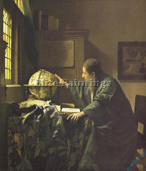 VERMEER VERM28 ARTIST PAINTING REPRODUCTION HANDMADE OIL CANVAS REPRO WALL  DECO