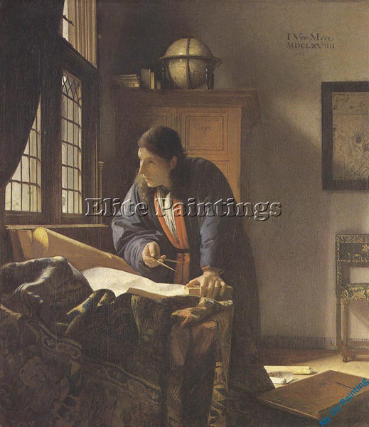 VERMEER VERM29 ARTIST PAINTING REPRODUCTION HANDMADE OIL CANVAS REPRO WALL  DECO