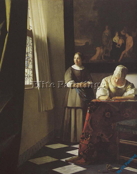 VERMEER VERM32 ARTIST PAINTING REPRODUCTION HANDMADE OIL CANVAS REPRO WALL  DECO