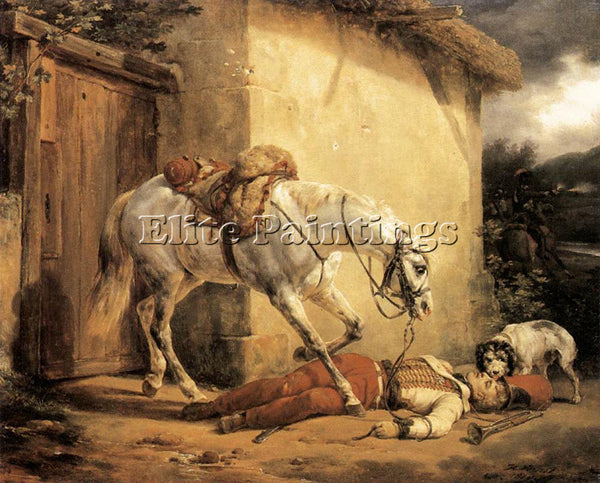 HORACE VERNET THE WONDED TRUMPETER ARTIST PAINTING REPRODUCTION HANDMADE OIL ART
