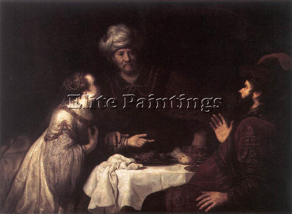 JAN VICTORS ESTHER AND HAMAN BEFORE AHASUERUS ARTIST PAINTING REPRODUCTION OIL