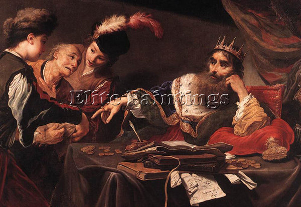 VIGNON CROESUS RECEIVING TRIBUTE FROM A LYDIAN PEASANT ARTIST PAINTING HANDMADE