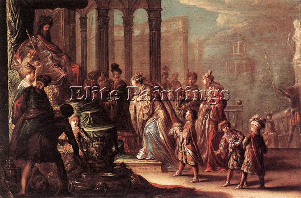 VIGNON ESTHER BEFORE AHASUERUS ARTIST PAINTING REPRODUCTION HANDMADE OIL CANVAS