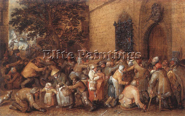 VINCKBOOMS DAVIDDISTRIBUTION OF LOAVES TO THE POOR ARTIST PAINTING REPRODUCTION