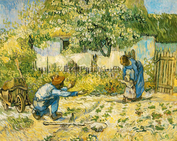 VAN GOGH FIRST STEPS AFTER MILLET ARTIST PAINTING REPRODUCTION HANDMADE OIL DECO