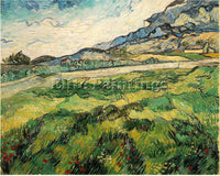 VAN GOGH GREEN WHEAT FIELD ARTIST PAINTING REPRODUCTION HANDMADE OIL CANVAS DECO