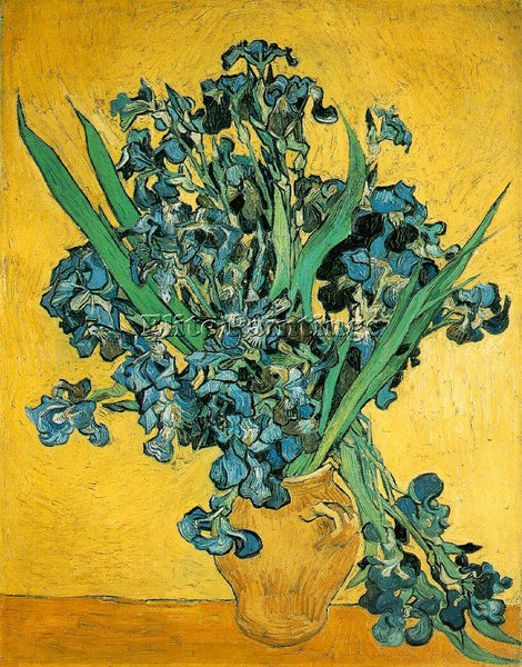 VAN GOGH IRISES AMSTERDAM ARTIST PAINTING REPRODUCTION HANDMADE OIL CANVAS REPRO