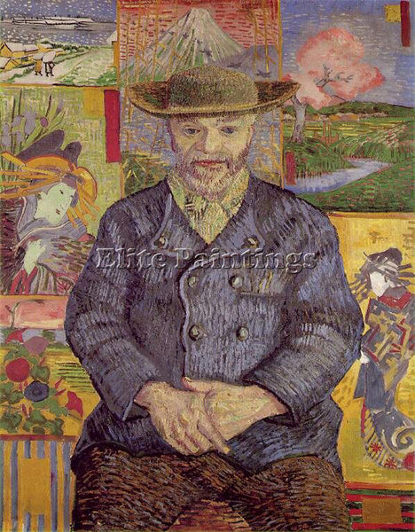 VAN GOGH PORTRAIT OF PERE TANGUY ARTIST PAINTING REPRODUCTION HANDMADE OIL REPRO