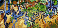 VAN GOGH ROOTS AND TREE TRUNKS ARTIST PAINTING REPRODUCTION HANDMADE OIL CANVAS