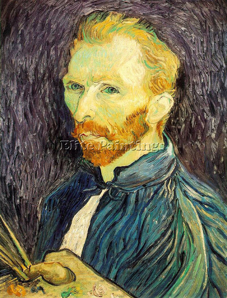 VAN GOGH SELF PORTRAIT 2 ARTIST PAINTING REPRODUCTION HANDMADE CANVAS REPRO WALL