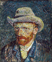 VAN GOGH SELF PORTRAIT WITH FELT HAT ARTIST PAINTING REPRODUCTION HANDMADE OIL