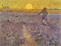 VAN GOGH SOWER WITH SETTING SUN ARTIST PAINTING REPRODUCTION HANDMADE OIL CANVAS