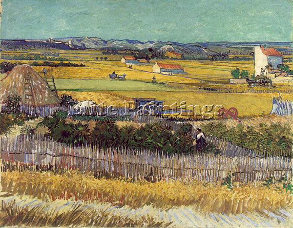 VAN GOGH THE HARVEST ARTIST PAINTING REPRODUCTION HANDMADE OIL CANVAS REPRO WALL