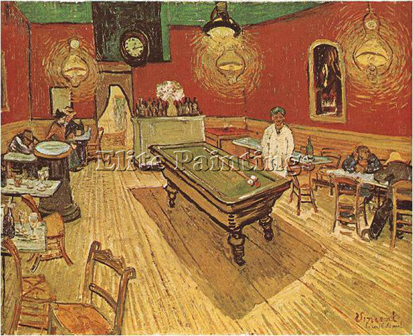 VAN GOGH THE NIGHT CAFE ARTIST PAINTING REPRODUCTION HANDMADE CANVAS REPRO WALL
