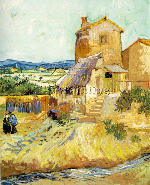 VAN GOGH THE OLD MILL ARTIST PAINTING REPRODUCTION HANDMADE OIL CANVAS REPRO ART