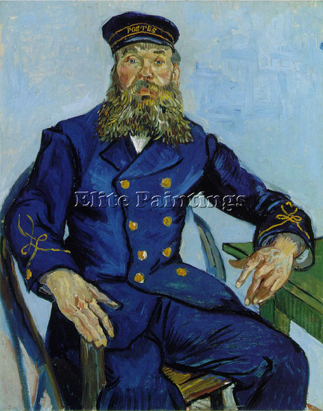 VAN GOGH THE POSTMAN JOSEPH ROULIN ARTIST PAINTING REPRODUCTION HANDMADE OIL ART