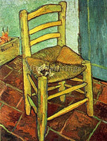 VAN GOGH VINCENT S CHAIR WITH HIS PIPE ARTIST PAINTING REPRODUCTION HANDMADE OIL